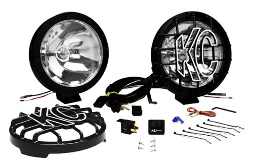 KC HiLiTES 801 Rally 800 Series Black Coated Stainless Steel 130w Spot Beam Light System (Rally 800 Series)