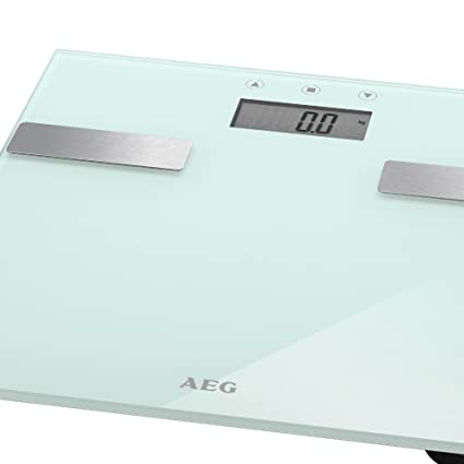 Báscula de análisis 7 en 1 de cristal y acero inoxidable de hasta 180 kg de