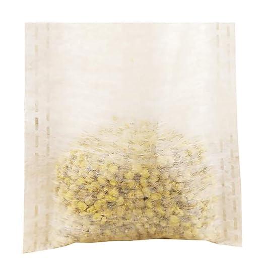 ZHOUBA 100 Bolsas de té Desechables con Filtro vacías y ...