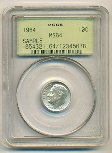 1964 Roosevelt Dime MS64 PCGS OGH SAMPLE