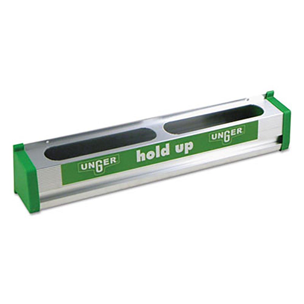 Unger HU450 18'' Hold Up Aluminum Rubber Finger Tool Rack