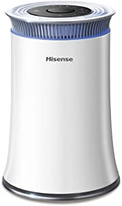 Hisense Air Purifier with True HEPA Technology, Air Purifier for Home Allergies Pets Dander Smokers in Bedroom, 25db Quiet Air Cleaner Remove Smoke Dust Mold Pollen for Large Room - KJ120