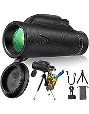 BAK4 Prisma 2021-80 x 100 High Power HD monoculaire telescoop voor vogelobservatie, camping, reiskerstcadeau voor volwassenen en kinderen