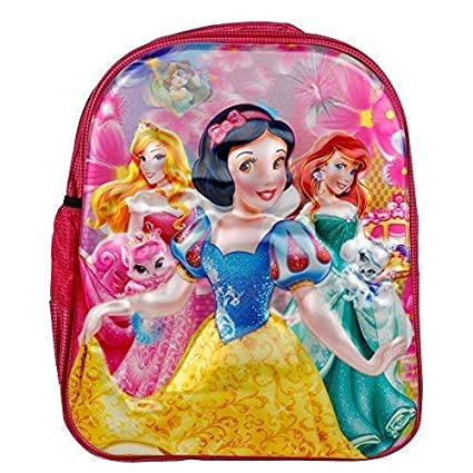21d8818418 Barbie Disney Cinderella Frozen Dora Girl s Synthetic 15.5 X 12 X 22.5  Inches Anna and Elsa Sofia Pink School Bag Backpack  Amazon.in  Bags