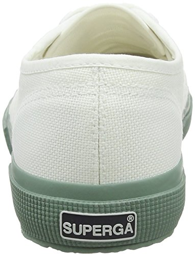 Adults' Unisex white Bay Classic Cotu J06 2750 Green Trainers White Superga 0w5Zqdw