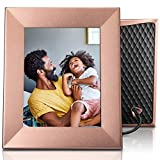 Nixplay Iris 8 Inch Digital Wifi Photo Frame W08E Peach Copper - Smart Frame with IPS Display, Motion Sensor and 10GB Online Storage, Display and Share Photos with Friends via Nixplay Mobile App