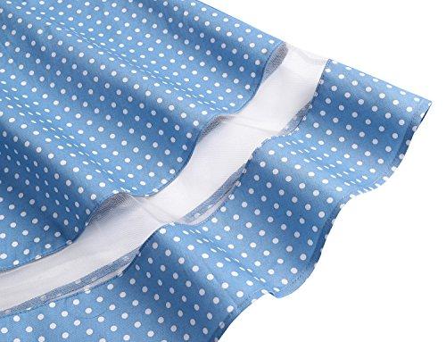 Courtes Blue soire col avec Vintage Ceinture 50 White Dot V Classique Robe annes Small Cocktail de Manches Gardenwed I8xwP6H