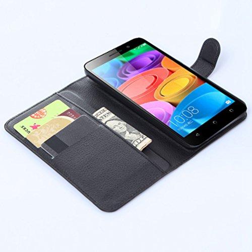 Manyip Funda Huawei Honor 4X,Caja del teléfono del cuero,Protector de Pantalla de Slim Case Estilo Billetera con Ranuras para Tarjetas, Soporte Plegable, Cierre Magnético(JFC6-16) I