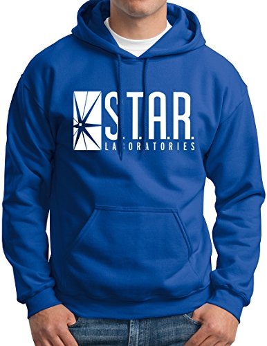 New York Fashion Police Star Labs Hoodie Star Laboratories Hooded Sweashirt Gift Royal L