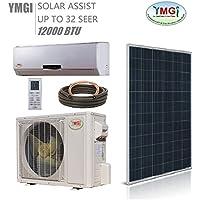 YMGI 1 Ton 12000 BTU SOLAR ASSIST DUCTLESS MINI SPLIT AIR CONDITIONER Heat Pump