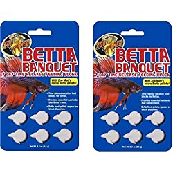 Zoo Med Betta Banquet Blocks 6 Card (Set Of 2)