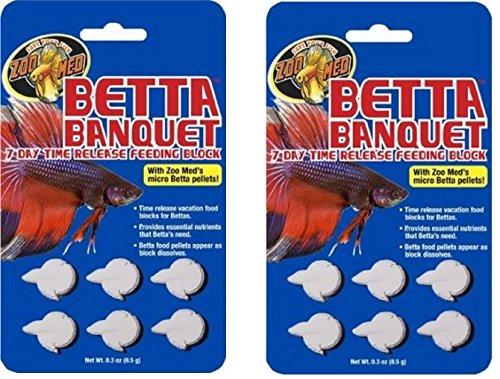 Zoo Med Betta Banquet Blocks 6 Card  Set Of 2