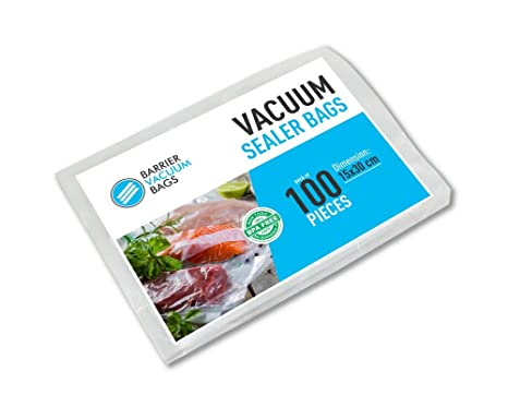Embossed Vacuum Sealer Bags 15 X 25CM Long 100 BAGS Highest Quality Pouches