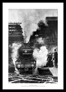 Framed LNER Gresley A4 Pacific 1938 Classic Steam Train Photo Memorabilia