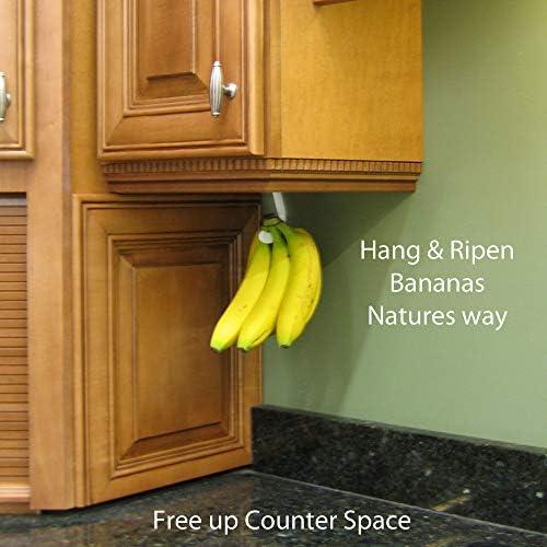 Black 2 pack Gadjit BANANA HOOK Hang /& Ripen Bananas Nature/'s Way