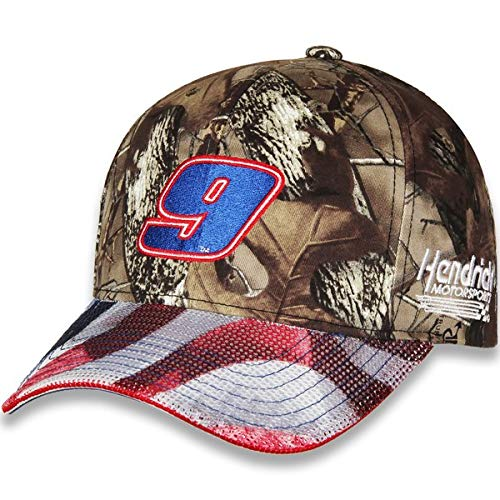 Hendrick Motorsports Checkered Flag NASCAR Chase Elliott #9 2019 TrueTimber Patriotic Camo Hat - Adjustable