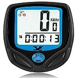 Bicycle Speedometer and Odometer Wireless Waterproof Cycle Bike Computer with Digital LCD Display & Multi-Function [Upgraded version]