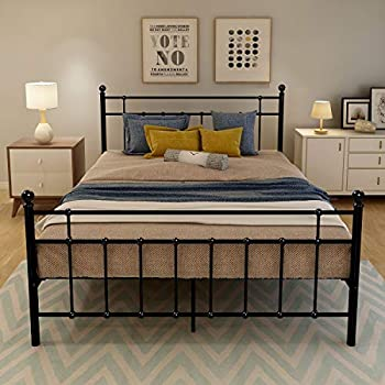 Amazon Com Queen Size Metal Platform Bed Frame Wth