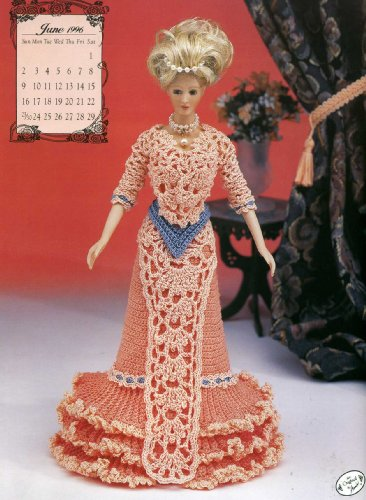(Miss June 1996 Dinner Gown (Annie's Calendar Bed doll Society, 7906))