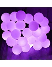Solar Outdoor String Lights,WONFAST® Waterproof 23ft/7M 50 LED Bulb White Ball Solar Powered Globe Fairy String Lights for Christmas Wedding Holiday Party Patios Lawn Garden Outdoor Decoration (Multi)