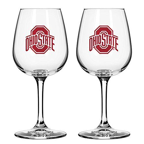 NCAA Ohio State Buckeyes Game Day Wine Glass, 12-ounce, - Buckeyes Wine