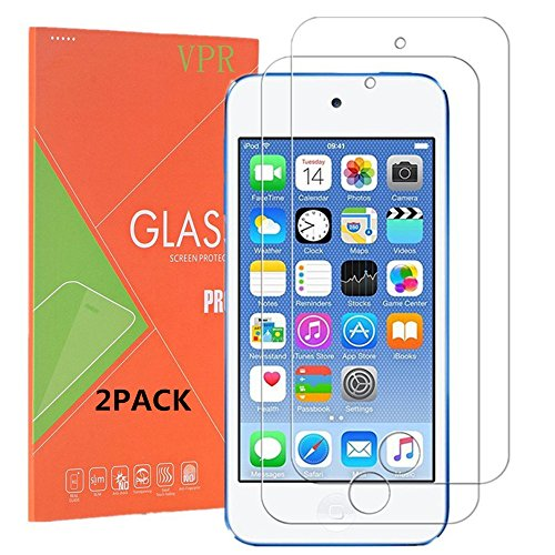 Protector, VPR [2 Pack] Premium Tempered Glass [Ultra-Clarity] [Highly Responsive] [No-Bubble Installation] for iPod Touch 6th, 5th Generation, (2Pack) ()