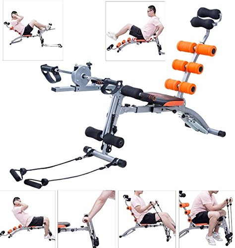 K&A Company Multi Functional Twister AB Rocket Abdominal Trainer Bench Stepper New Gym Exercise Fitness Orange by K&A Company