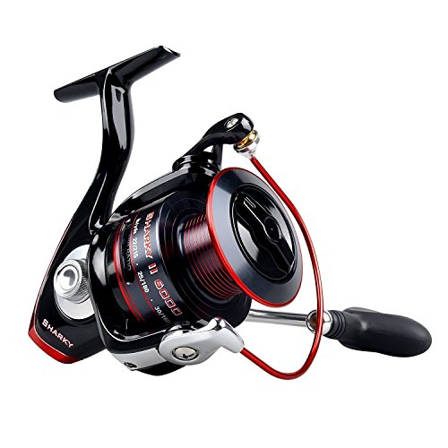 KastKing Sharky II Fishing Reel - Smooth Spinning Reel - 48.5 Lb Carbon Fiber Max Drag - 10+1 Superior Ball Bearings-Brass Gears-Top Quality at An Affordable Price! Sharky II 6000(Saltwater approved)