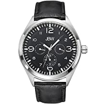 JBW Men's J6310B Analog Display Japanese Quartz Black Watch