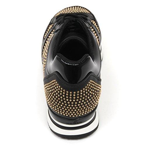 SPORTIVO XL CLUB H222 sneaker Nero C7934 woman HOGAN shoes nero borchie NUOVO donna xOnwcqW