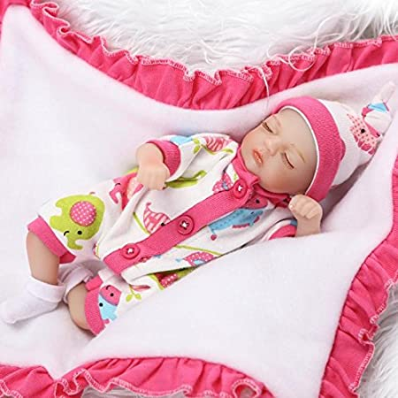 Review Nicery Reborn Baby Doll Soft Simulation Silicone Vinyl 8inch 20cm Cloth Body Toy Gift Cute Girl RD20C002GC