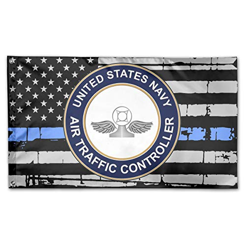 TTHOMR US Navy Air Traffic Controller Blue Line USA Flag Home Garden Flag Yard Outdoor Indoor Decorative Flag 3x5 Ft