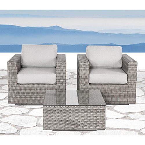 rattan wicker patio sofa set all weather outdoor seating aluminium