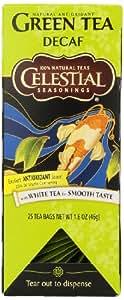 Celestial Seasonings Decaf Green Tea, 25 Count (Pack of 6)