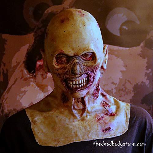 LATEX SCARY WALKING DEAD WALKER ZOMBIE HOLLOW HALLOWEEN DUMMY HEAD
