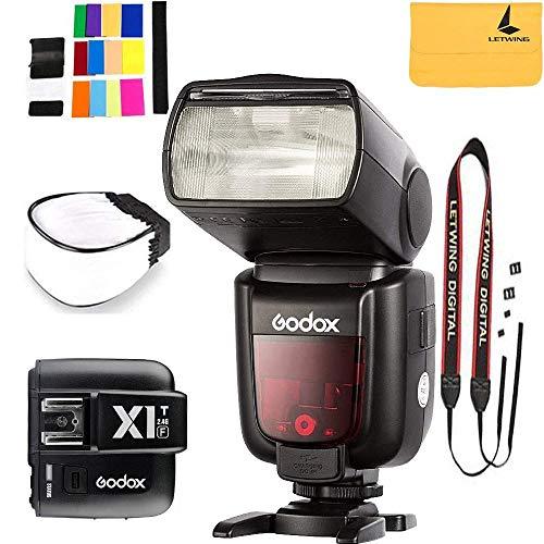 GODOX TT685F HSS 2.4G TTL GN60 Camera Flash Compatible for Fujifilm Camera X-Pro2 X-T20 X-T1 X-T2 X-Pro1 X100F,GODOX X1T-F Flash Trigger Transmitter Compatible Fuji DSLR -