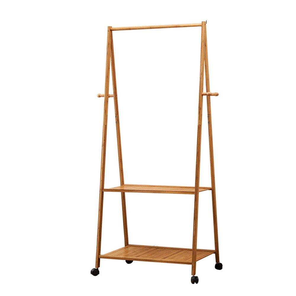 Coat rack shoe rack / floor coat rack / bedroom hanger / living room fashion coat rack / simple clothes rack / mobile drying rack / multi-function coat rack /(70/90163cm) ( Size : 70163cm )