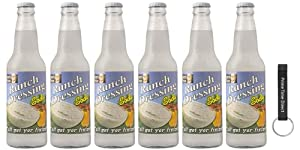 Lester's Fixins Ranch Dressing Soda 12 oz Bottle (Pack of 6) Bundle with PrimeTime Direct Keychain Bottle Opener in a PTD Box