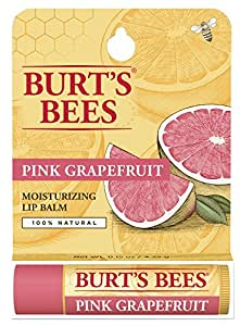 Burt's Bees 100% Natural Lip Balm, Pink Grapefruit Blister Box, 0.15 Ounce