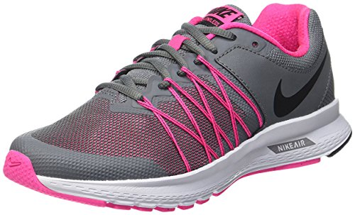 Nike Women's Air Relentless 6 Running Shoe #843882-002,Cool Grey/Black-pink Blast-white, 10 B(M) US