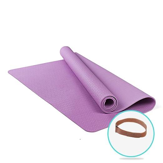DLJFU - Esterilla de Yoga Grande, Doble Espesor, Amplia ...