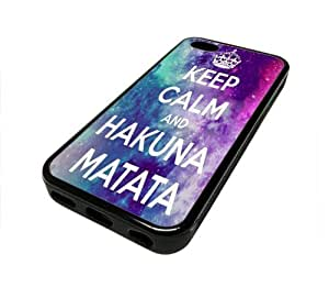 phone iphone 5c iphone 5c 5 C Case Cover Keep Calm And Hakuna Matata Nebula DESIGN BLACK RUBBER SILICONE Teen Gift Vintage Hipster Fashion Design Art Print Cell Phone Accessories