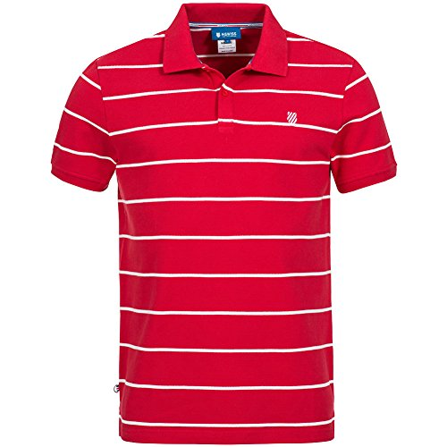 Cheap Kswiss Mens Striped Polo Red Shirts Size supplier