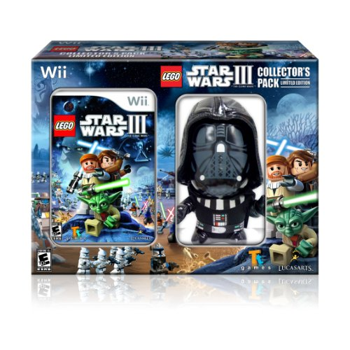 Lego Star Wars III: The Clone Wars (Wii) Game With Darth Vader Plush