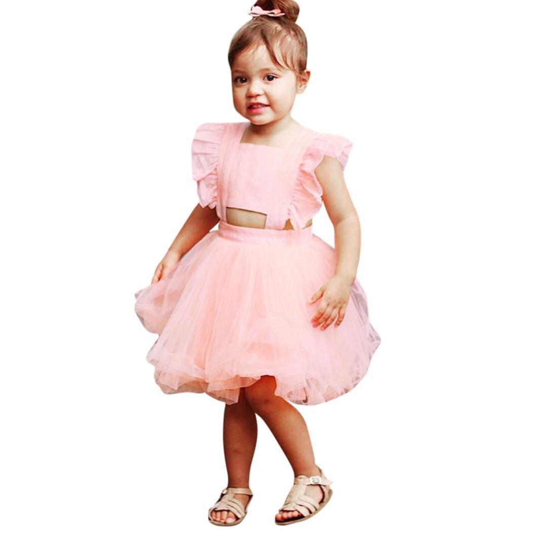 Vestido Niña, ❤️Xinantime Vestido para niñas pequeñas Ruched ...
