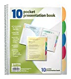 Better Office Products 10 Pocket Poly Presentation Folder with tabs, 2 count