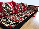 Orient-Designs Furniture,Oriental Seating,Arabic Seating,Floor Couch,Floor Cushions,Arabic jalsa,majlis,Hookah bar Decor The Original from Gulf Kilims