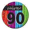 Creative Converting 96-Count Milestone Celebrations Round Paper Dessert Plates, Celebrate 90