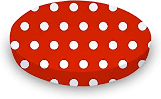 product image for SheetWorld Fitted Oval Crib Sheet (Stokke Sleepi) - Polka Dots Red - Made In USA