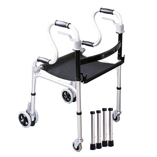 YX Andador plegable para personas mayores - Asiento de tela ...